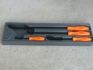 Rare Snap On Spbs704o Orange Hard Handle 4pc Striking Pry Bar Set Prybar Spbs704