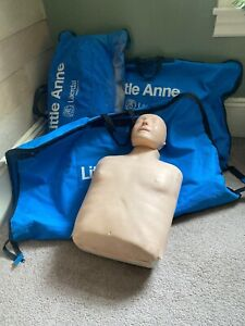 3 Laerdal Little Anne Cpr Adult Training Manikin W Carrying Case