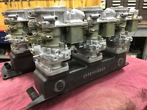 Pontiac 6 Deuces Offenhauser Intake And Holley Carburetors 1955 60