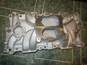 Weiand Sbc Intake Manifold Chevy 350 400 383 327 86 97 Heads 8126 Small Block