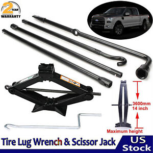 Repair Spare Tire Lug Wrench W Scissor Jack Tool Kit For Ford F 150 04 14 Usa
