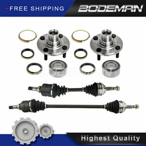 2 Front Cv Axle 2 Wheel Hub Bearing For 2wd 93 02 Chevy Prizm Corolla Non abs