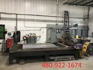 Retro Hornet Msh60edr50 Cnc Plasma Cutting Table 5x10 Table Size 260 Amps 2008