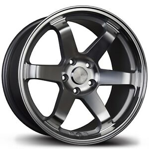 Avid 1 Wheels Av 06 17x8 5x114 3 Rota Style 6 Spoke 17 Hyper Black Rims 4