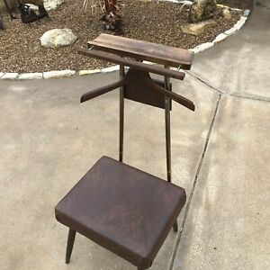 Vintage Mid Century Mens Bedroom Valet Butler Chair Suit Rack Mcm Modern