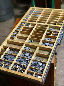Letterpress Printing Tray With Tons Of Assorted Blocks