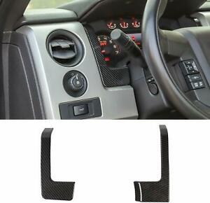 Carbon Fiber Dash Cover Dashboard Decor Trim Accessories For Ford F150 2009 2014