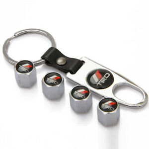 Trd Toyota Chrome Emblem Car Wheel Tire Tyre Valve Dust Stems Air Caps Keychain