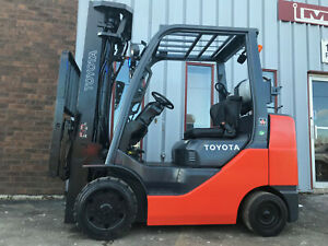 Free Freight 2008 Toyota 8fgcu30 6000lb Cushion Tire Forklift Lease 256