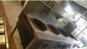 Commercial Chinese Gas Wok Range W 4 Four Burners
