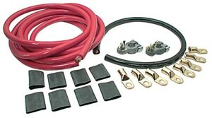 Top Mount 2 Gauge Battery Terminal Cable Kit Remote Relocation Kit Race Car