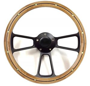 1949 57 Ford F100 Pick Up New Item Beautiful Alder Wood 14 Steering Wheel Set