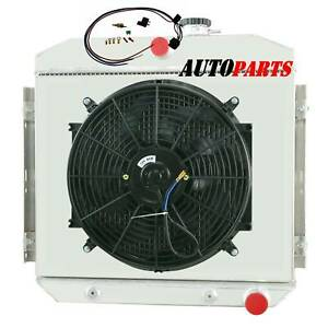 3row Radiator Shroud Fan Relay Kit For 55 57 Chevy Bel Air Del Ray 210 150 L6 V8