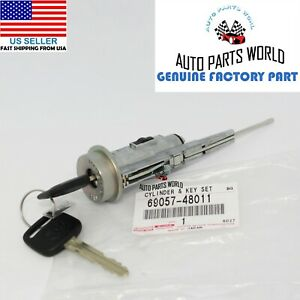 Genuine Oem Toyota Avalon Camry Ignition Switch Lock Cylinder Key 69057 48011