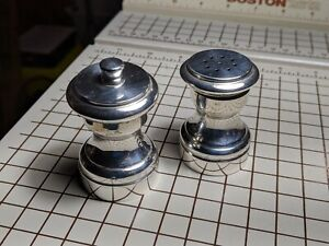 Vintage Revere Silversmiths Sterling Silver Salt And Pepper Shaker Grinder