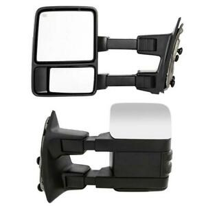 L R For 1999 07 Ford F250 F350 F450 F550 Power Heated Signal Tow Side Mirrors