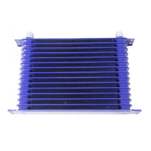 Universal 15 Row 10an Oilcooler Powder coated Engine Transmission Oil Cooler