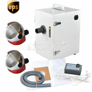 Dental Digital Single row Dust Collector Vacuum Cleaner 110v 370w 2 Suction Base