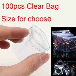 100pcs Pvc Anti oxidation Clear Plastic Bag Zip Lock Jewelry Packaging Pouch cp