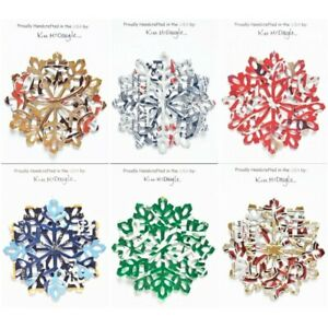 Snowflake Christmas Ornament Handmade Recycled Aluminum Can Many Varieties