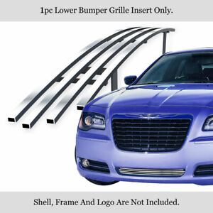 Fits 2011 2014 Chrysler 300 300c Bumper Stainless Chrome Billet Grille Insert