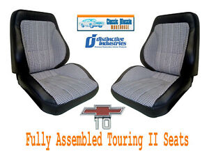 Deluxe Houndstooth Touring Ii Fully Assembled Seats 1967 1972 Chevy Trucks