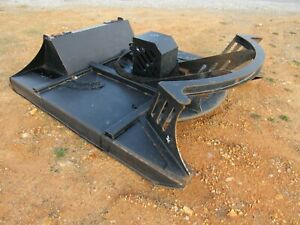 Used 72 Direct Drive Brush Cutter Mower Attachment Fits Skid Steer Loader
