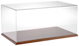 Plymor Clear Acrylic Display Case With Hardwood Base 20 W X 12 D X 9 H