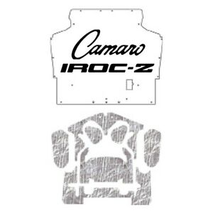Hood Insulation Pad Heat Shield For 1970 1974 Chevy Camaro With G 028 Iroc Z