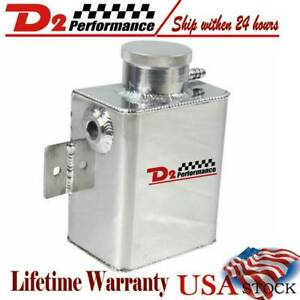 New Universal 1235ml Aluminum Coolant Overflow Catch Can Bottle Expansion Tank
