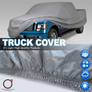 Pickup Truck Car Cover Cotton Inlay All Weather Crew Cab 8feet Bed Fit Chevrolet