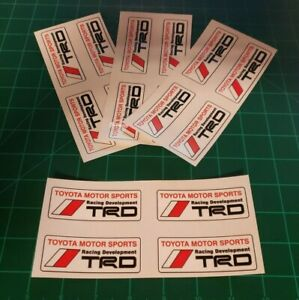 Toyota Trd Racing Decal 4 Pack Tacoma Tundra Celica Camry Window Sticker