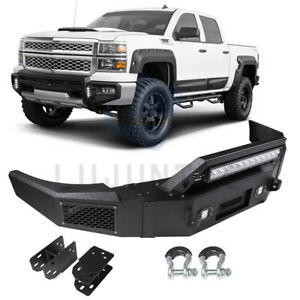 Steel Step Front Bumper Assembly For Chevy Silverado 1500 Sierra 1500 2007 2013