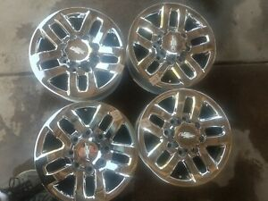 2011 2019 18 Chevy Silverado Hd2500 Factory Oem Chrome Wheels Rims Set Of4