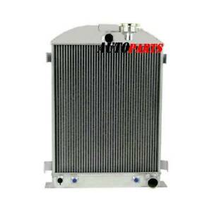 3 Row Raw Aluminium Radiator For 1928 1939 Ford Model Grille Shells Chevy Engine