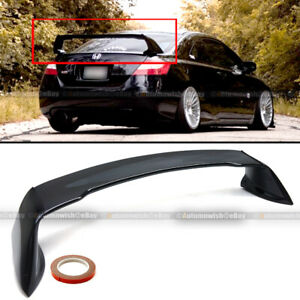 Fits 06 11 Honda Civic 2dr Coupe Glossy Black Mugen Style Rr Trunk Wing Spoiler