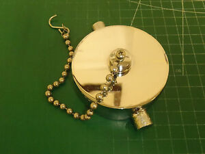 Elkhart Brass Npsh Female Fire Hydrant Pin Lug Cap With 9 Chain 310