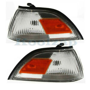 Fits 88 92 Corolla japan Built Corner Turn Signal Park Light Lamp Set Pair