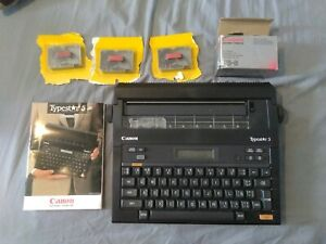 Canon Typestar 5 S 50 Electronic Typewriter Working With Manual And Ribbons