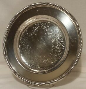 Wm Rogers Silverplate 10 Serving Tray 811