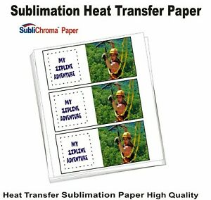 Sublimation Paper Use With Digital Epson Printer 100 Sheets 8 5 X 11