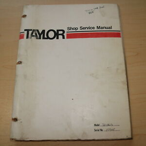Taylor Te 1805 Forklift Truck Owner Service Repair Shop Manual Book Overhaul