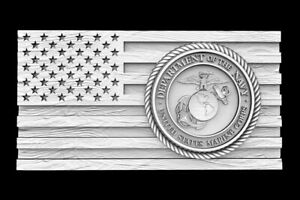 3d Stl Model For Cnc Router Artcam Flag Usa America Marine Corps Eagle D668