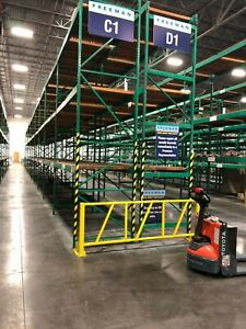 Used Pallet Rack 1 Row 83 Feet Long 8 X 4 X 16 tall Sections With 3 Beam Level