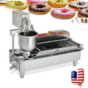 Usa 7l Commercial Automatic Electric Donut Making Machine Donut Fryer 3 Outlet