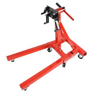 Red Foldable Swivel Car Engine Maintain Hoist Stand Bracket Universal Fitting
