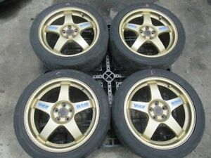 Jdm Subaru Wheels Rays R17 5x100 Rims Forged Monoblock Gc8 Sti 22b Wrc Sg5 Sf5