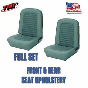 1966 Mustang Coupe Front And Rear Seat Upholstery Turquoise By Tm