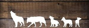 Wolf Family Of 5 Vinyl Decal sticker For Jeep Car Truck Window more On Request