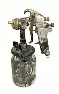 Vintage Devilbiss Pga 510 Paint Spray Gun W Canister Paint Painting